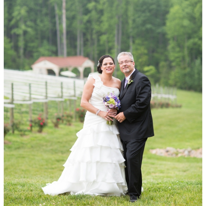 Annie & Bill . Married . Potomac Point Winery Wedding